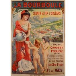 "Original Vintage French Travel Poster ""La Bourboule"" Spa Resort ca. 1900"