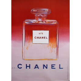 Original Vintage French Poster for Chanel 5 by Andy Warhol - Red/Pink