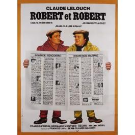 """Original Vintage French Movie Poster Advertising """"Robert et  Robert"""" by Landi"""
