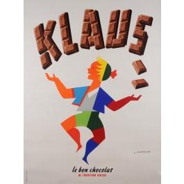 Original French Poster advertising Chocolate Klaus