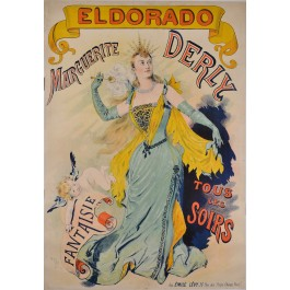 Original Vintage French Poster for Marguerite Derly appearing at ELDORADO