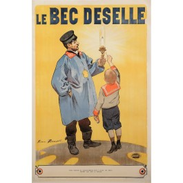 "Original Vintage French OVERSIZE Poster for ""Le Bec Deselle"" by Firmin Bouisset ca. 1900"