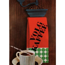"Original Vintage German Poster Advertising ""Volg Kaffee"" Coffee 1950's"