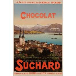 "Original Vintage Swiss Poster Advertising ""Chocolat Suchard"" ca. 1900"