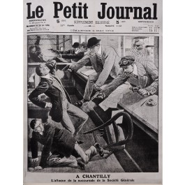 "Original Vintage French Newspaper Poster Advertising ""Le Petit Journal"" 1912"