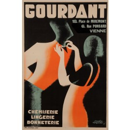 "Original Vintage French Poster for ""GOURDANT"" Department Store by FRAPOTAT"