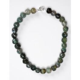 Ethnic Vintage Natural Multi-colour Nephrite Jade Beads Neclace