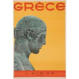 "Original Vintage French Poster ""Grece - L'Aurige - Musee de Delphes"" Greece 1947"