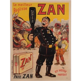 "Original Vintage French Poster for ""ZAN Suc Pur"" Soup by Oge ca. 1905"