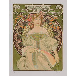 "Signed Lithograph ""Reverie"" Daydream d'Apres A. Mucha 282/350"