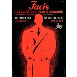 "Original Vintage Italian Fashion Poster for ""Facis"" by Studio Testa 1930's"