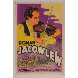 "Original Vintage French Poster for ""Roman Jacowlew et ses virtuoses tziganes"""