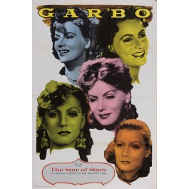 "Original Vintage American Movie Festival Poster for Greta ""GARBO"" MGM 1963-Paper"