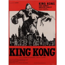 "Original Vintage French Movie Poster for ""KING KONG"" by F. DEFLANDRE 1960's"