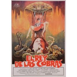 """Original Vintage Spanish Movie Poster for """"EL REY DE LAS COBRAS (Jaws of Satan)"""" PELTZER 1981"""