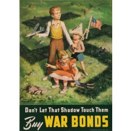 "Original Vintage American WWII Propaganda Poster ""BUY WAR BONDS"" Swastika by Lawrence Beall Smith 1942"