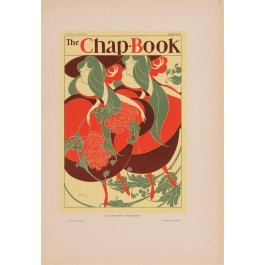 "Les Affiches Etrangeres ""The Chap Book"" Stone Lithograph by Bradley - 1895"