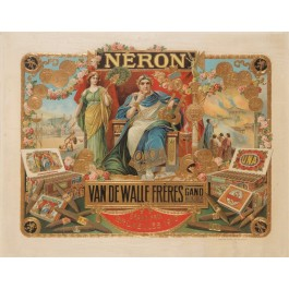 Original Poster on Cartoon for Neron Cigars Bruxelles