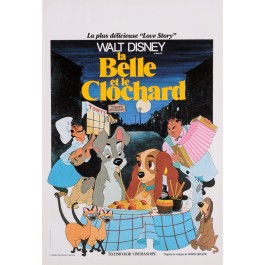 "Original Vintage Movie Poster ""La Belle at Le Clochard"" Walt Disney"