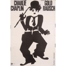 "Original Vintage German Charlie Chaplin Movie Poster ""Gold Rausch (Gold Rush)"""