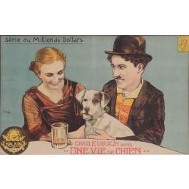 "Original Belgian Charlie Chaplin Movie Poster ""Une Vie de Chien"" F. Burnet"