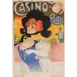 "Original Vintage French Poster ""Casino de Paris - Reouverture"" by Grun 1906"