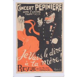 "Original Vintage French Poster ""Je Vais Le Dire A Ta Mere!"" by Grun 1902"
