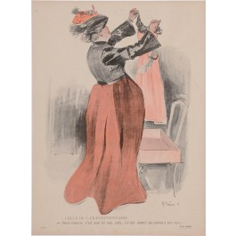 "Original Vintage French Poster ""Petite Chemise""  by Grun ca. 1900"