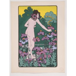"Original Litho ONLY L'Estampe Moderne N.11 ""L'Heure du Berger"" by Christiansen"