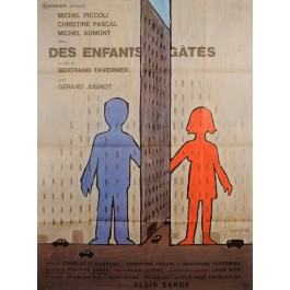 "Original Vintage French Movie Poster ""Des Enfants Gates"" by Savignac 1977"