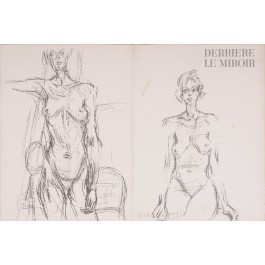 """Derriere le Miroir"" (DLM) no. 127 (1961) incl. 14 Original Lithos by A. Giacometti"