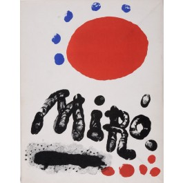 """Limited Edition No. 363 """"Miro Recent Paintings book """" with 3 Original Lithographs 1953"""