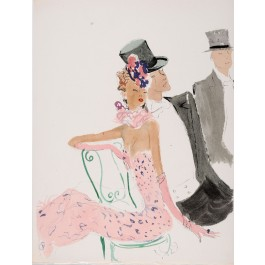 "Original Lithograph  ""Quand on Parle d'Amour"" Domergue 1948"