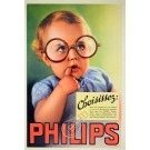 Original Vintage French Advertising Poster for PHILIPS Light Bulb by Draeger