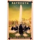 "Original Vintage German Travel Poster ""Bayreuth"" Wagner Jupp Wiertz"