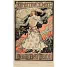 Les Affiches Illustrees Vintage ORIGINAL Antique Lithograph PRINT 1896 Jeanne Darc by Grasset