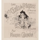 "Original 1890's Poster ""Oeufs De Paques"" Easter Eggs by Marius Carman"