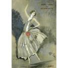 Original Claridge's Paris Menu Lithograph by GABRIEL DOMERGUE - Paris