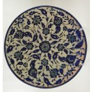 Antique Large Armenian Artisan Plate Palestine The Joint Workshop Blue Cobalt
