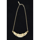 Costume Jewellry Faux Perals Gold-tone Necklace