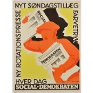 Swedish Poster for Demokraten by Sylvester Hvid 1930