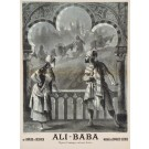 Original Vintage Advertising Poster Ali Baba Opera Comique Charles Lecocq