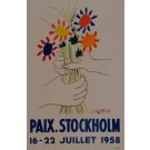 "Original Lithograph ""Paix. Stockholm"" by PICASSO for ""Affiches Originales"" 1959"