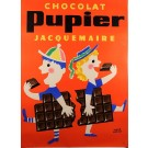 "French Chocolate Poster ""Chocolat Pupier"" by Morvan"