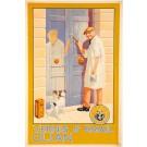 Original Vintage Belgian Poster Advertising Vernis & Email Olian ca. 1930