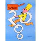 Original Vintage French Poster Les vapeurs 2000 by Savignac