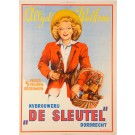 "Original Vintage Carboard Poster advertising ""De Sleutel"" by D. Rudeman ca. 1950"