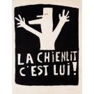 """French Student Revolution Poster """"La chienlit, c´est lui"""""""