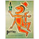 "Original Vintage French Poster ""Perrier"" by Savignac LATER PRINTING 1980's"