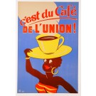 "Original Vintage French Poster Advertising ""Café de l'Union"" by M Laurant 1953"